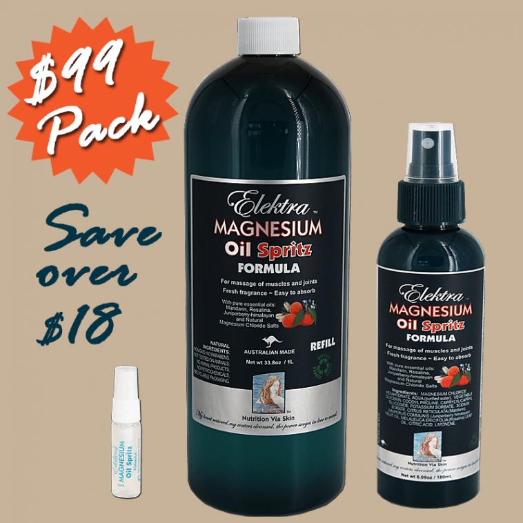 Elektra Magnesium Oil Spritz Pack