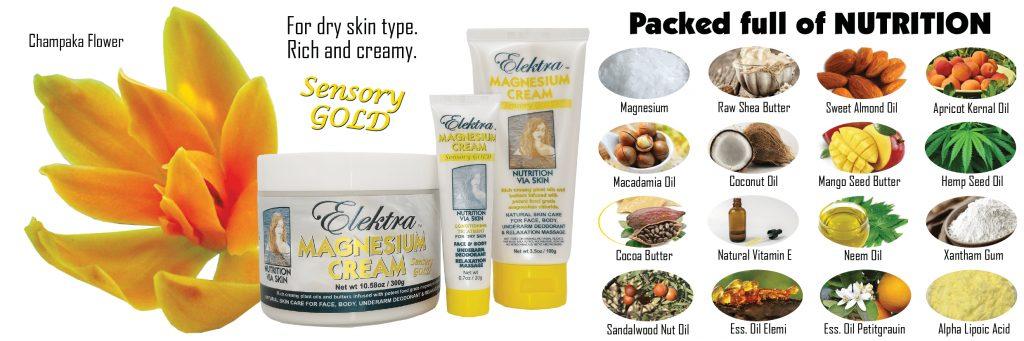 Sensory Gold Magnesium Cream