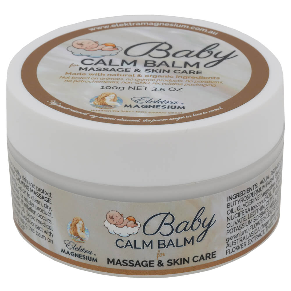 Baby calm balm for massage and skin care