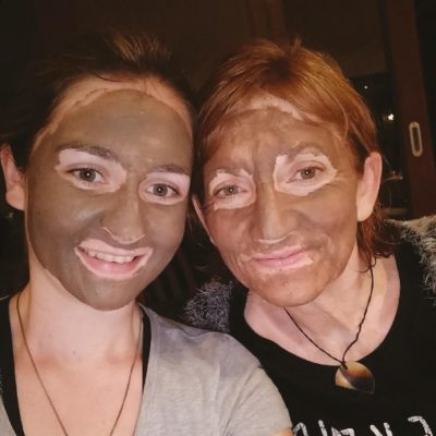 Charcoal-Pomegranate Cleanser faces